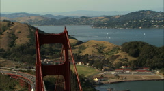 Stock Video Footage of Aerial Highway 101 Golden Gate Bridge travel USA
