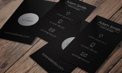 Business card template - dark sleek design - stock illustration
