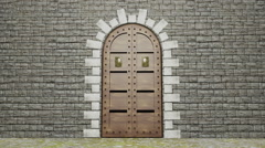 Old Wooden Door Stock Footage