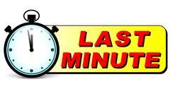 last minute stopwatch icon - stock illustration