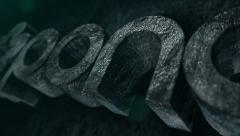 3D Stone Logo And Titles Stock After Effects