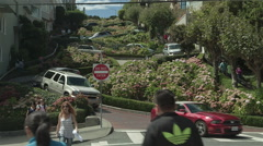 Lombard street san francisco Stock Footage