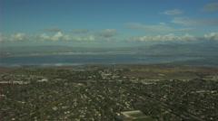 Aerial San Francisco Bay California Pacific ocean coastline USA Stock Footage