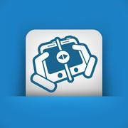 File transfer - stock illustration