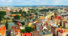 wroclaw panorama - stock photo