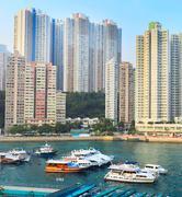 Stock Photo of aberdeen bay, hk