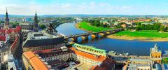 Dresden skyline Stock Photos