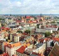wroclaw cityscape - stock photo