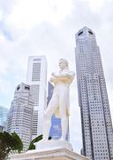 Sir tomas stamford raffles monument Stock Photos