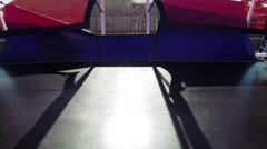 Jumping gym trampoline bouncy Stock Footage