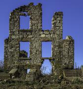 Stock Photo of Ruins of an old stone house