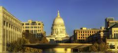 the capitol building in madison, wisconsin - stock photo