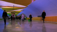 HD timelapse view of Lermontovskiy prospect subway station. Contemporary style. Stock Footage