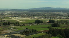 Aerial Watsonville Airport California Pacific ocean USA Stock Footage