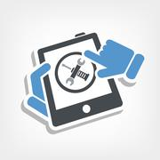 Touchscreen device setting Stock Illustration