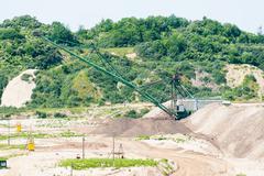 Amber open-cast mining in Yantarny, Russia Stock Photos