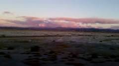 Bolivia altiplano sundown pan Stock Footage