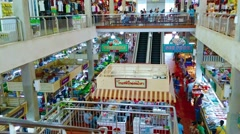 Patong, phuket, thailand - circa nov 2014: modern public market with fresh fo Stock Footage