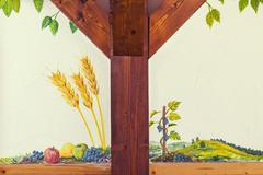 serbian naive painting - stock photo