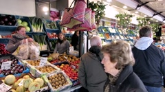 Street Markets Belgium Stock Footage