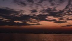 Time lapse of sunset sky with sea at Sriracha, Chonburi, Thailand Stock Footage