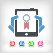 Best device icon Stock Illustration