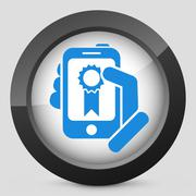 Best device icon - stock illustration