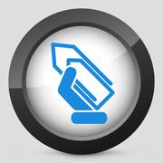 Clip icon Stock Illustration