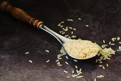 rice grains - stock photo