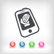 Takeaway contact - stock illustration