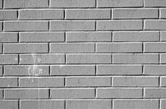 A plain white brick wall. very generic. Stock Photos