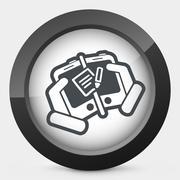Mailbox on device - stock illustration