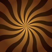 Brown twist of striped rays with a radial gradient to make a great background Stock Illustration