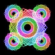 rainbow color wheel - stock illustration