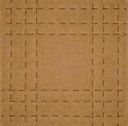 flat brown cardboard  background texture with perforated lines that will help - stock photo