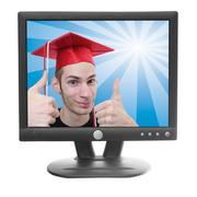 lcd computer monitor - stock photo