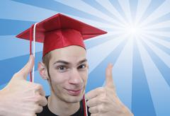 Stock Illustration of high school graduate