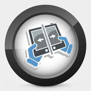 Smartphone transfer - stock illustration