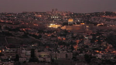 HD Sunset on a Israelite city Stock Footage