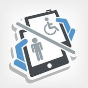 Disabled device - stock illustration