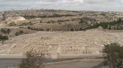 HD panoramic Israelite cemetery Stock Footage