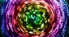 Rainbow circular blur spin Stock Illustration