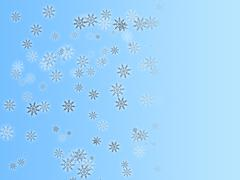 illustration background graphic of snowflakes falling in winter. - stock illustration