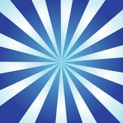 Blue and white burst of striped rays with a radial gradient. Stock Illustration