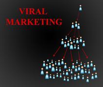 viral marketing - stock illustration