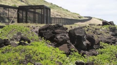 Large metal fence in Hawaii Stock Footage