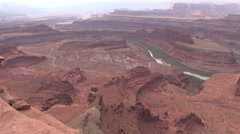Dead horse Point Landscape Moab utah Stock Footage