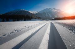 Nordic ski Stock Photos