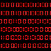Binary digit computer language code written in the font that is used in digit Piirros
