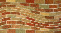 Wavy brick wall Stock Illustration